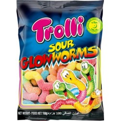 Trolli - Sour Glowworms - 100g